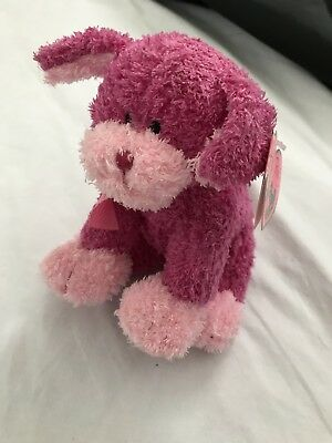 Ty Pinkys Beanie Baby  FANCIFUL the Pink Dog  MINT TAGS RETIRED
