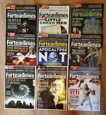 Fortean Times magazine 2010s back issues UFOlogy, paranormal, weird supernatural