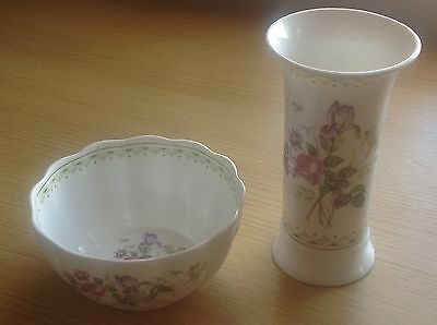 """Royal Doulton """"Camilla"""" Vase (9"""") and Bowl (H5185) FREE Insured UK Delivery"""