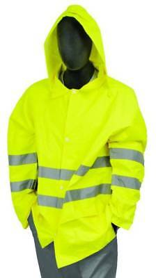 Hi Viz Vis Safety Waterproof Rain Cover Trouser Mens Work High Visibility Pants