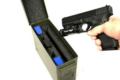 30cal Military closed cell Foam fit 30 cal caliber Ammo Can hold 1 Pistol 5 mags