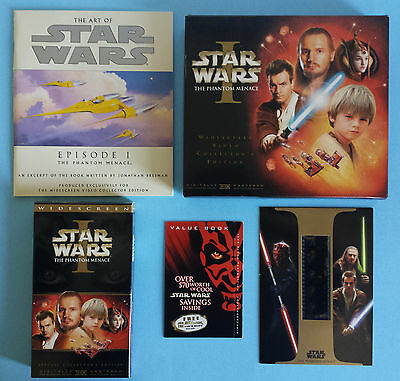 Star Wars I The Phantom Menace Widescreen Video Collector's Edition VHS