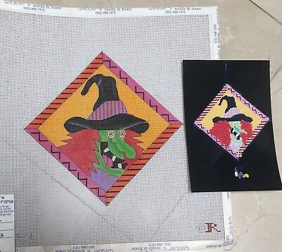 Renaissance Designs WITCH CACKLING HP Halloween Needlepoint Canvas Stitch Guide