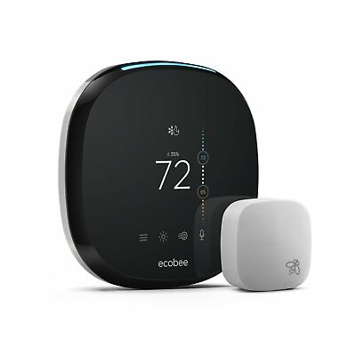 Ecobee4 Smart Thermostat With Room Sensor New Model 2017: EB-STATE4-01
