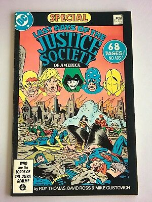 Last Days of the Justice Society of America Special #1 FN+ — DC Comics