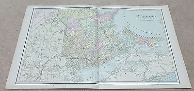 1890 ORIGINAL Map - New Brunswick