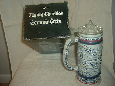 Avon 1981 Flying Classics Ceramic Stein Handcrafted in Brazil in original box