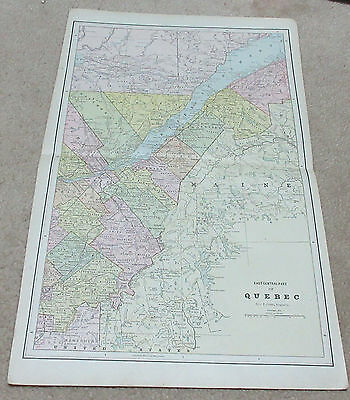 1890 ORIGINAL Map - East Central part of Quebec