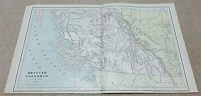 1890 ORIGINAL Map -  British Columbia