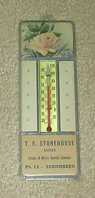 Vintage T.E. Stonehouse SCHOMBERG Ontario - Advertisement Thermometer