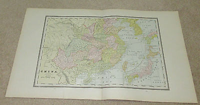 1890 ORIGINAL Map -  China, Australia, Egypt, Arabia/Upper Nubia and Abyssinia