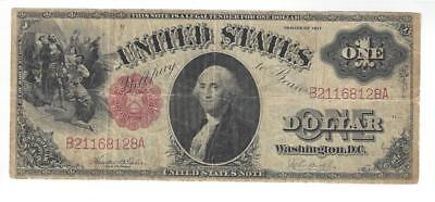 1917 $1 One Dollar United States Note Very Good