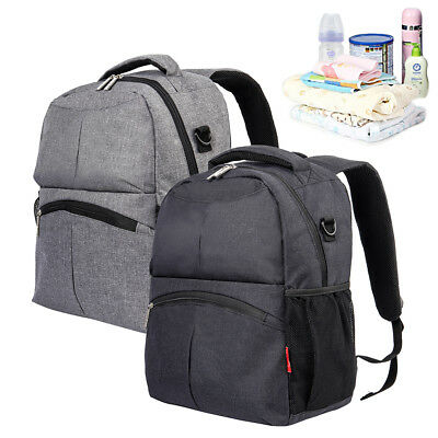 UK Baby Diaper Backpack Multifunctional Mum Bag Nappy Changing Mummy Backpack