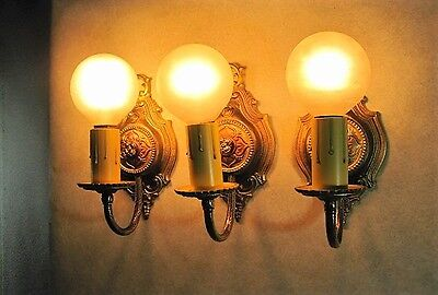 Sconces 3 Moe Bridges Antique Cast Early 1900`s Restored From 1800`s Home Work