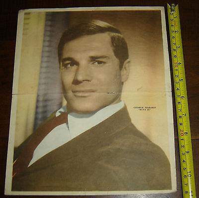 GEORGE MAHARIS  Route 66   rare ARGENTINA Canal TV  insert  Poster vintage 1960