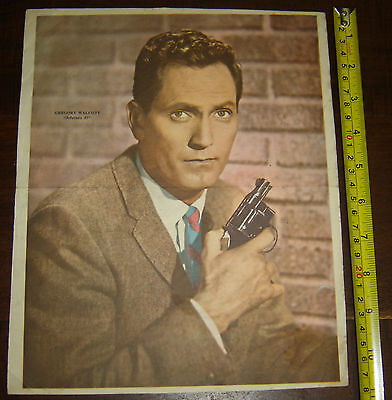 GREGORY WALCOTT  87th Precint ARGENTINA Canal TV  insert  Poster vintage 1960