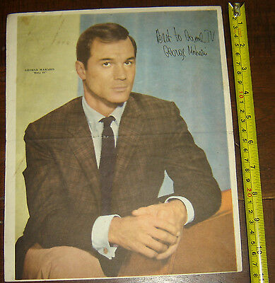 GEORGE MAHARIS Route 66  ARGENTINA Canal TV insert  Poster vintage 1960 variant