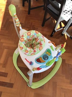 Fisher-Price Spacesaver Jumperoo Rainforest Friends. As New condition