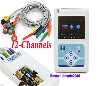 12-Channel 24Hours ECG EKG Holter Recorder Monitor Holter cardiaco Contec