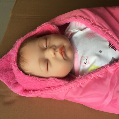 "Lovely Realsitic 22"" Reborn Dolls Newborn Baby Soft silicone Vinyl Toddler Gift"