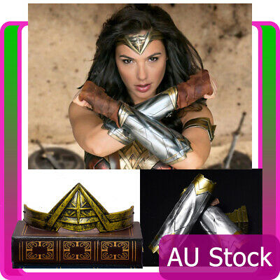 Wonder Woman Princess Diana Armband Gauntlets Headband Costume Accessories