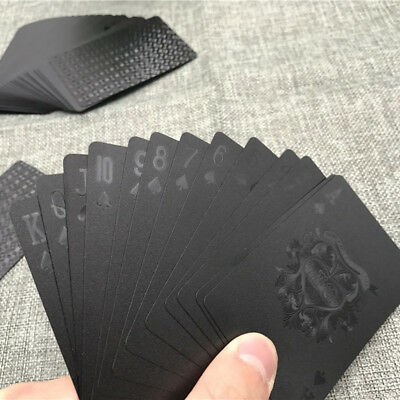 3D Print Magic Black Waterproof Matte Plastic Party Playing Cards Poker Toys