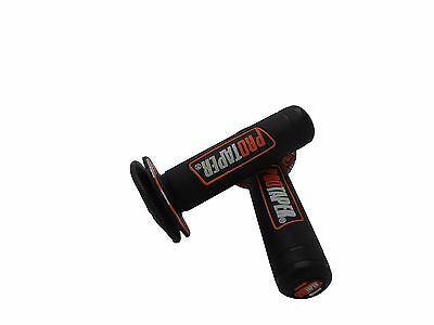 "7/8"" 22mm Orange MX Pit Soft Gel Hand Grips Handle Bar SX-F EXC KTM Motorcycle"