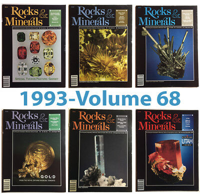 Rocks and Minerals 1993 Volume 68  (Number ONE thru SIX) - Pristine