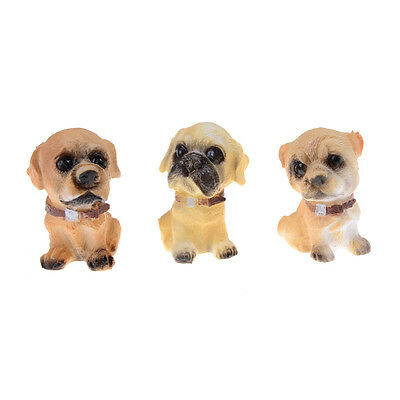 12pcs/set Dog Puppy Collections Gardening Ornaments Animal Figures Toys