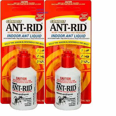 2 X ANT RID 50mL FOR ANTS LIQUID CONCENTRATED KILLS THE QUEEN AND NESTS