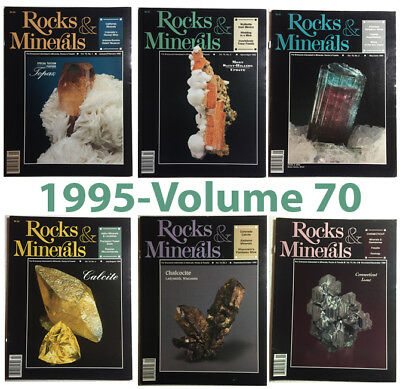Rocks and Minerals 1995 Volume 70  (Number ONE thru SIX) - Pristine