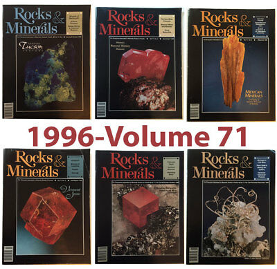Rocks and Minerals 1996 Volume 71  (Number ONE thru SIX) - Pristine