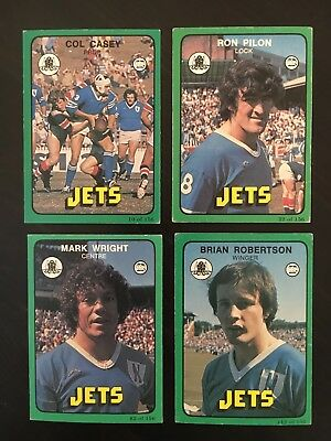 4 x 1978 Scanlens Newtown Jets NRL Rugby League Cards Part Team Set 10 22 82 112