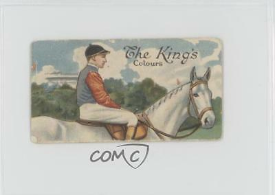 1922 Downland Horse Racing Series Tobacco Base #1 The King's Colours Card z6d