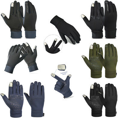 New US Mens Winter Warm Sports Gloves Touch Screen Gloves Running Cycling M L XL