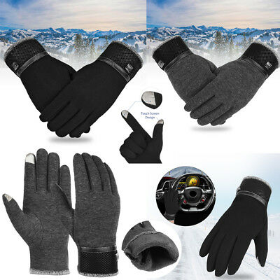 US Winter Warm Gloves Thick Warm Mittens Touch Screen Mens Womens Outdoor New
