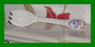 Beautiful 1962 Petunia Salad Fork From Maling Pottery - Glorious Lustre Finish