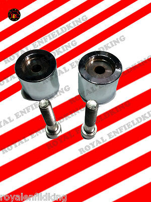 Brand New Royal Enfield Chrome Handle Bar End Weight Heavy Duty