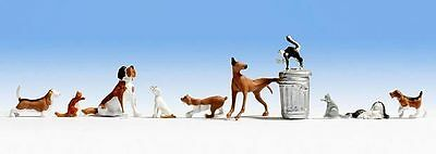 Figurines NOCH TT 45715: Dogs and Cats, 10 Animals