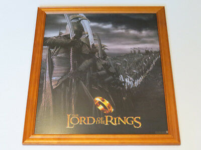 The Lord of the Rings Film Poster. Genuine. Timber/Glass Framed. Mint condition.