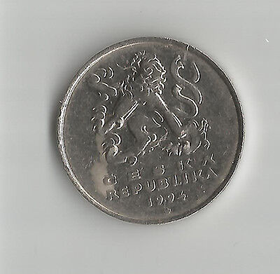 CZECH REPUBLIC,  5 Kuruna 1994 - good circulated