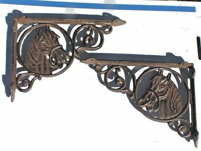 2 Cast Iron Horse brackets Brown