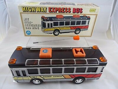 ALPS Highway Express Bus mit Elektroantrieb-Made in Japan-neuwertig-34cm!-OVP!