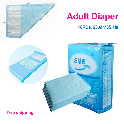 10PCs ,L90*60cm High Quality,Soft Material Adult old Nappies Disposable Diaper
