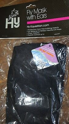 Hy Anti-UV Fly Mask with Ears for Horses