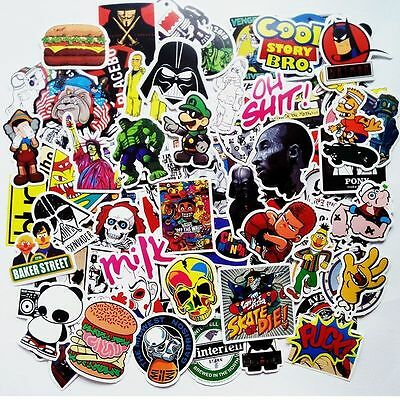 200 Random Vinyl Decal Graffiti Sticker Laptop Bomb Waterproof Stickers Skate AU