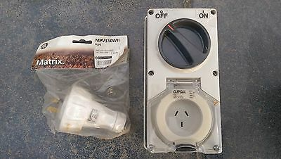 Clipsal 56 Series Switched Socket Outlet & Plug Top - 10A Single Phase