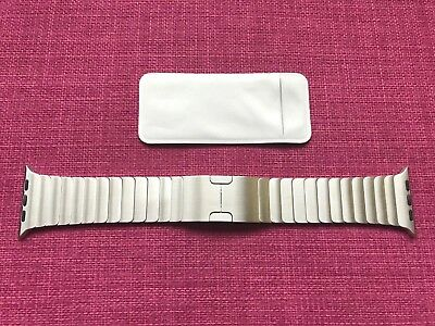 Genuine Apple Stainless Steel 42mm Link Bracelet for Apple Watch, Silver Metal