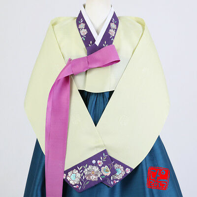 "Hanbok Korean Traditional Costume Women Dress Set 한복 M-size 5' 3"" (160cm) 61017"