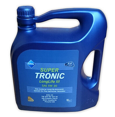 Aral SuperTronic LONGLIFE III 5W-30 Motoröl 5 Liter VW 504.00 507.00 Longlife